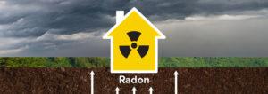 گاز رادون متصاعد شده از زمین سرطان زا است.