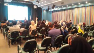 برگزاری کارگاه آموزش ایمن سازی در برابر امواج برای مادران باردار در محل بیمارستان آتیه