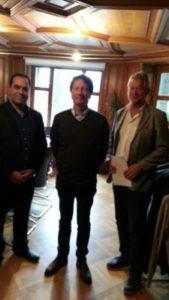 اخذ نمایندگی شرکت سوئیس شیلد توسط آقای دکتر زینلی مدیر عامل شرکت سلامت سینا