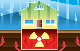 کاهش گاز رادون در منزل